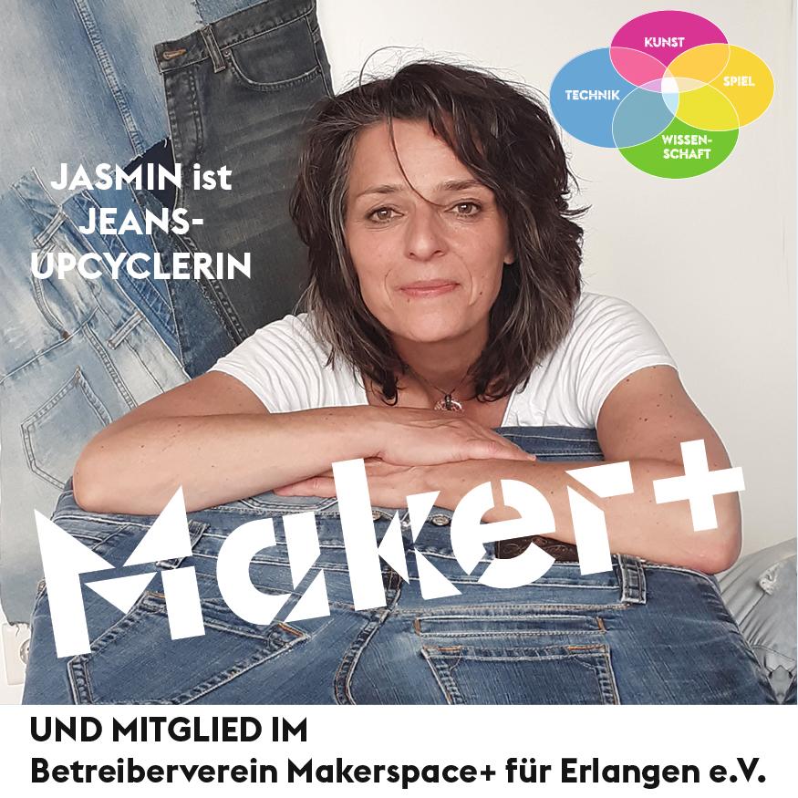 Maker+ Jasmin ist JEANS-UPCYCLERIN